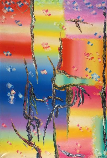 Гладких Алексей Иванович (род.1947) «Декоративное». 1995. Холст, масло, 80,5×54,5см.