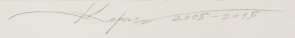 Пузанков Корнил Владимирович (род.1974) «Ночной разговор». 2005-2015. Бумага, офорт, акватинта, 43,9×57,5см (лист), 27,8×39,8см (оттиск).