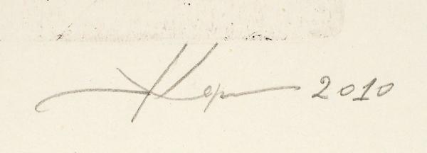 Пузанков Корнил Владимирович (род.1974) «Птица». 2010. Бумага, офорт, медь, резерваж, 37,8×28,1 (лист), 17,6×13,5см (оттиск).