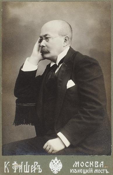 Фотография писателя, драматурга, журналиста Петра Дмитриевича Боборыкина (1836-1921)/ фот. К.Фишер. М., [1900-е гг.].
