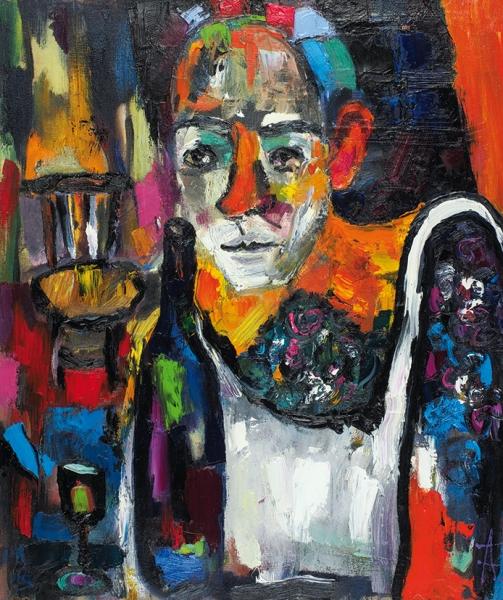 Аксир Тамара. «Аргентинское вино» или «Одиночество Пикассо». 2019. Холст, масло. 60x40см.