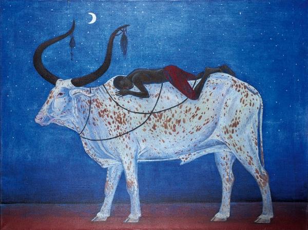 Близнюк Дарья. «Сон пастуха». 2016. Холст, масло. 120x90см.