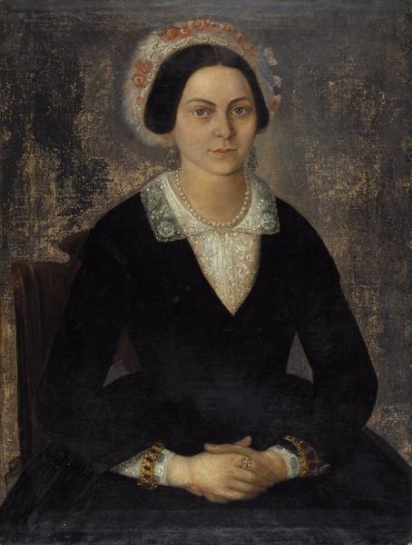 Васько Гавриил Андреевич (1820-1866?) «Женский портрет». 1849. Холст, масло, 80×61см.