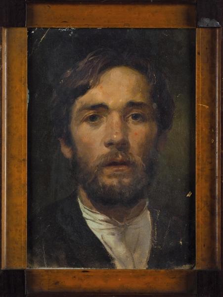 Рябушкин Андрей Петрович (1861–1904) «Автопортрет». Последняя четверть XIXвека. Холст, масло, 30×22,5см.