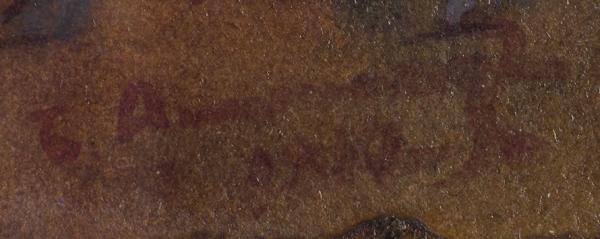 Анисфельд Борис Израилевич (1878–1973) «Библейская сцена». 1917. Картон, смешанная техника, 51,5×59,5см (всвету).