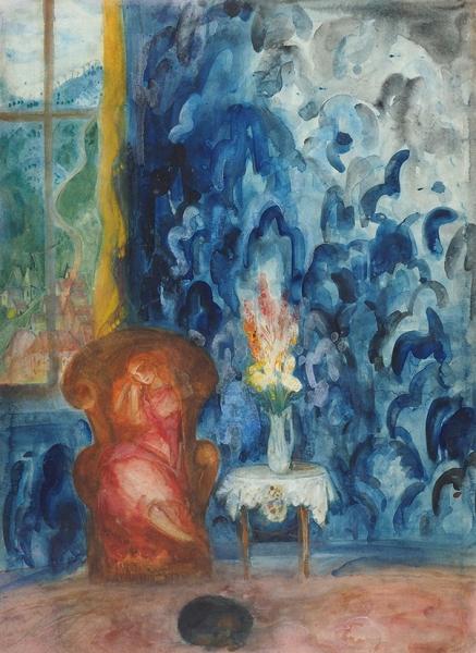 Анисфельд Борис Израилевич (1878–1973) «Сон». 1940-е. Бумага, графитный карандаш, акварель, 75,3×55см.