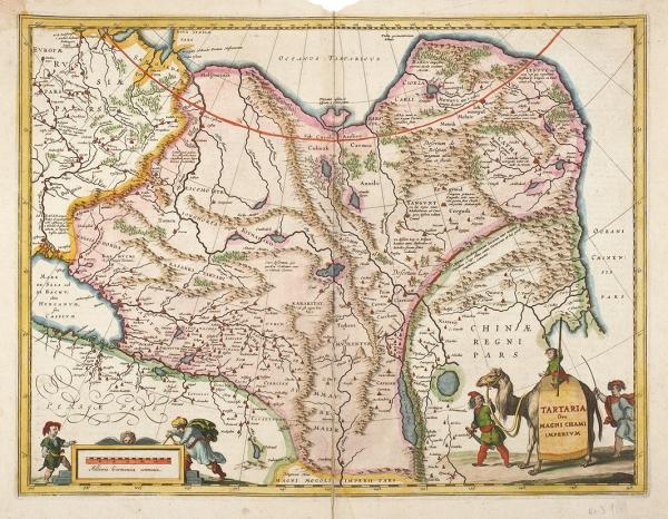 [«Удивительные видения идьявольское харканье» впустыне Лоп] Тартария иИмперия Великого Хана. [Tartaria sive Magni Chami imperium]. [Амстердам, 1630-е гг.].
