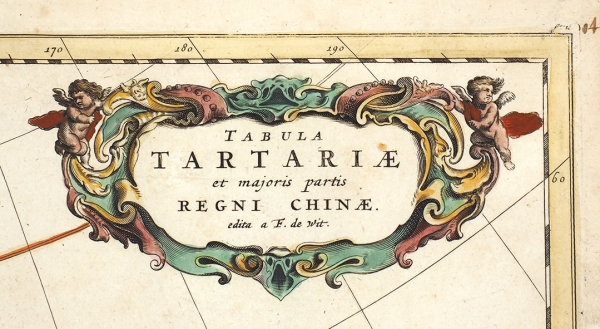 [Лукоморье иБайда XVIIвека] Карта Тартарии иБольшей Части Царства Китайского/ Ф. деВит. [Tabula Tartariae etmajoris partis Regni Chinae/ F. deWit]. Амстердам, 1680.