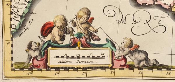Карта Таврии (Крыма)/ сост. Йоханнес Янссониус. [Tavrica Chersonesus, Hodie Przecopsca etGazara dicitur]. Амстердам, 1656.
