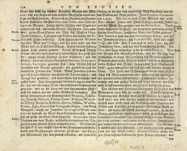 Карта России иокружающих еестран/ карт. Ф.Клювер. [Russia cum confinijs]. Амстердам, 1676.
