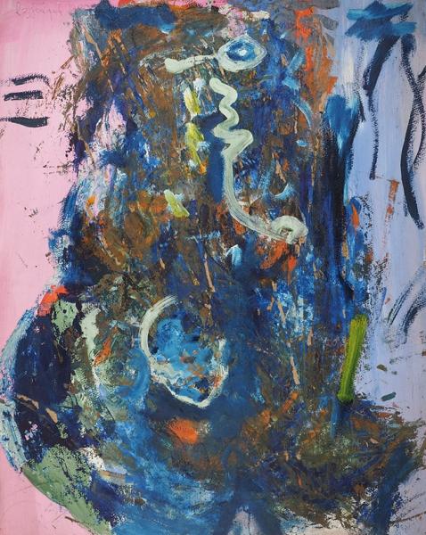 Зубарев Владислав Константинович (1937–2013) «Женский портрет». 1980. Картон, масло, 120×95см.