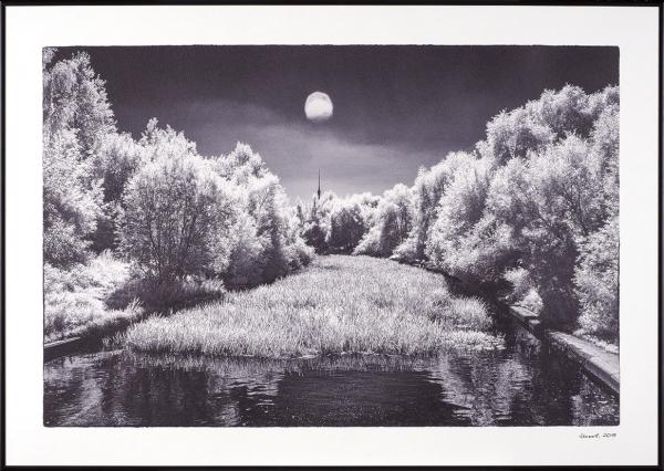 Акимов Андрей. «Яуза. Полдень». Бумага, многослойная рельефная печать.59,4×84,1см.