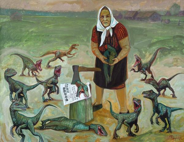 Дроздов Илья. «Баба Дина». 2017. Холст, масло. 70x90см.