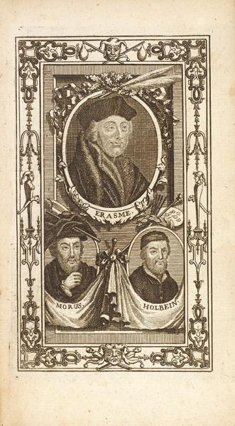[81гравюра Ганса Гольбейна] Эразм Роттердамский. Похвала глупости/ гравюры Ганса Гольбейна. [L'Eloge delafolie. Нафр.яз.] Амстердам, 1741.