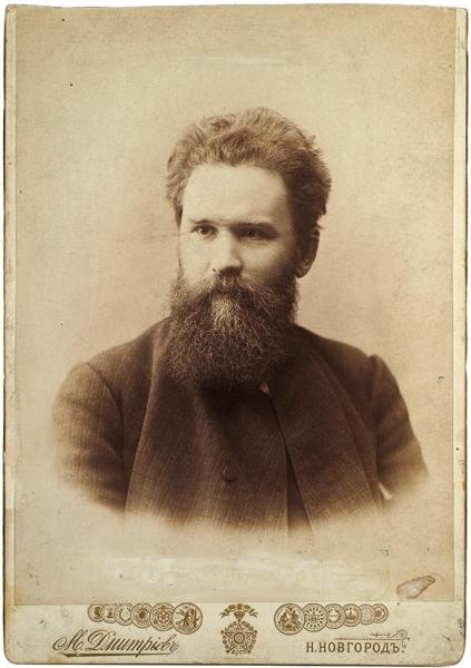 Фотопортрет В.Г. Короленко/ фот. М.Дмитриев. Н. Новгород, [1889-1890-е гг.].
