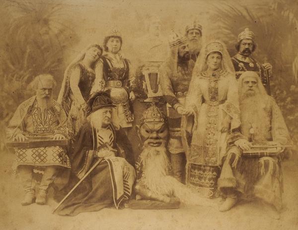 Фотография сюбилейного спектакля Глинки «Руслан иЛюдмила». 27ноября 1892г. (50-летие содня дня первой постановки).