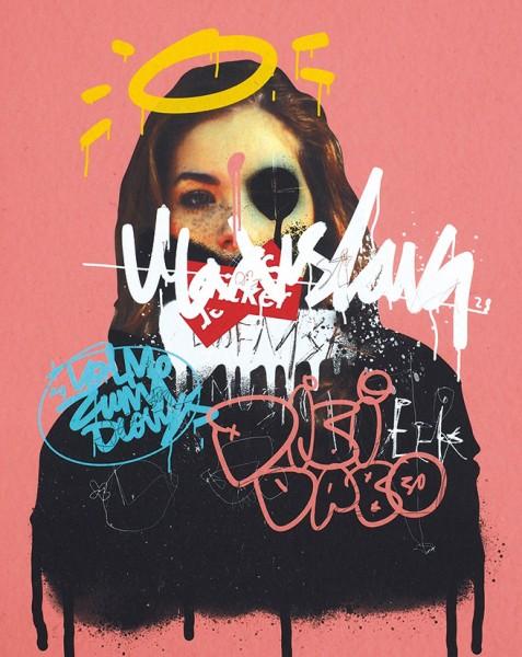 Aleх Q. Hattomonkey «Вig Wine Greaks music Posters». 2019. Картон, цифровая печать. 50×40см.