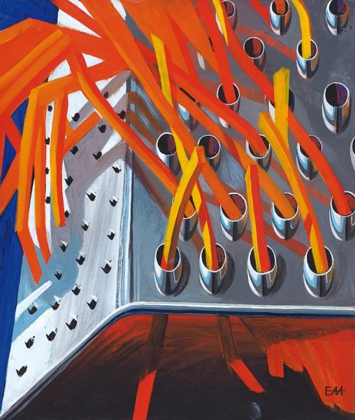 Ермачкова Ангелина. «Пожар». 2018. Холст, акрил. 60×70см.