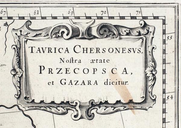Карта Крыма/ карт. Меркатор— Хондиус. [Taurica Chersonesus Nostra aetate Przecopsca etGazara dicitur]. Амстердам, [1650].