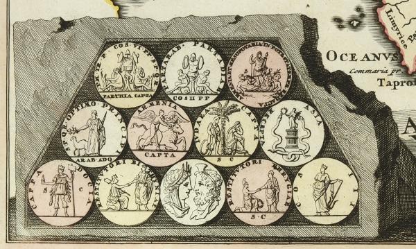 Карта Азии/ карт. Кристоф Вайгель. [Asia vetus per Christoph Weigelium]. Нюрнберг, 1720.