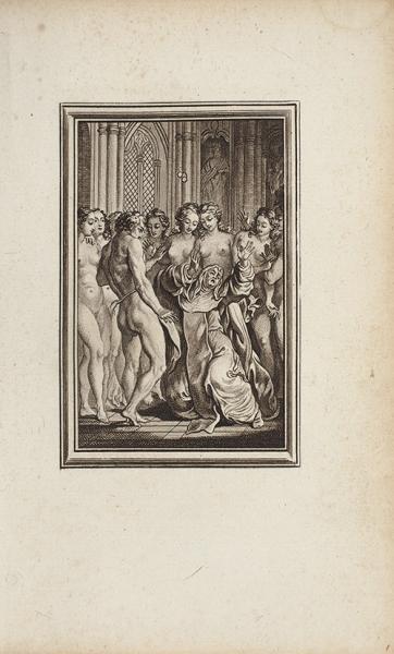 [18+] Сюита из16эротических гравюр французского художника Шарля Эйзена, выполненных имв1762 году вкачестве иллюстраций кбасням Лафонтена. [Амстердам, 1762].