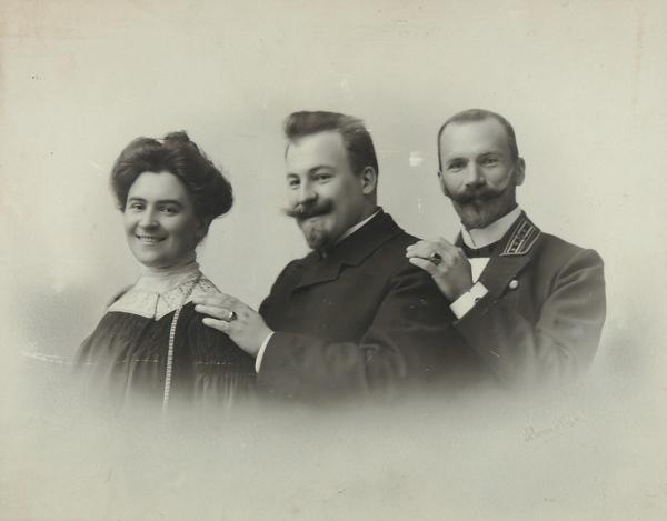 Книппер-Чехова, О.Фотография сбратьями. [1900-е гг.].