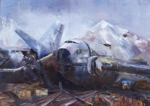 Базунов Николай. «База-17». 2019. Холст, масло, 35×25см.