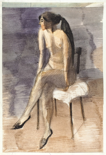 Беззубов Юрий Иванович (1937–2006). Изсерии «Фигуры». 1970-е. Бумага, акварель, графитный карандаш. 40×26,5см.