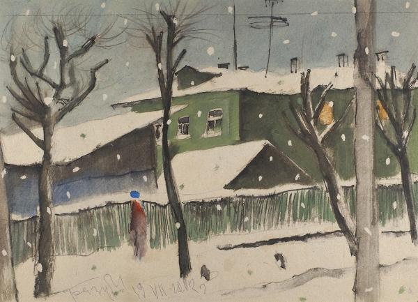 Беззубов Юрий Иванович (1937–2006). Изсерии «Пейзаж». 1970-е. Бумага, акварель. 29×40см.