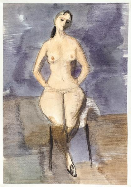Беззубов Юрий Иванович (1937–2006). Изсерии «Фигуры». 1970-е. Бумага, акварель.39,5×27см.