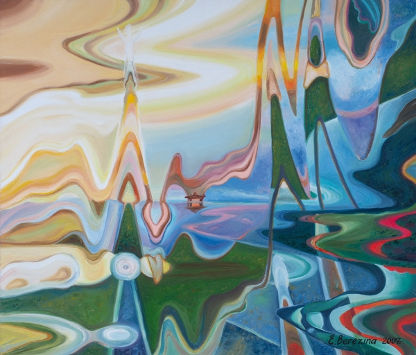 Березина Елена. «Гимн восходящему солнцу». 2007. Холст, масло. 60×70см.