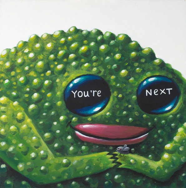 Виговская Катя. «You`re next». 2019. Холст, акрил. 50×50см.