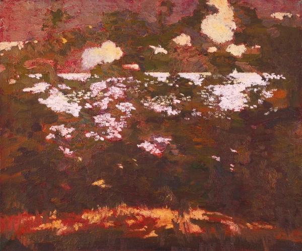 Виктор Данильчик. «Розовый пейзаж». 2008. Холст, масло. 50×60см.