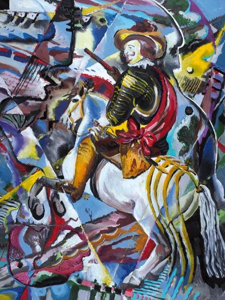Мунц Андрей. «Портрет герцога Оливареса. Веласкес. Римейк». 2018. Холст, масло. 120×90см.
