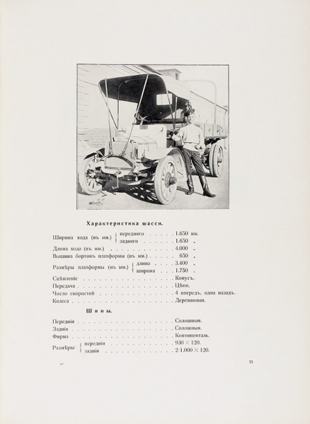 Отчет обиспытании грузовиков.1912. [СПб.]: Издание Учебной автомобильной роты; Тип. «Якорь», [1912].