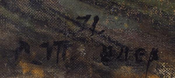 Тышлер Александр Григорьевич (1898–1980) «Ангел над городом». 1971. Холст, масло, 27×39,2см.