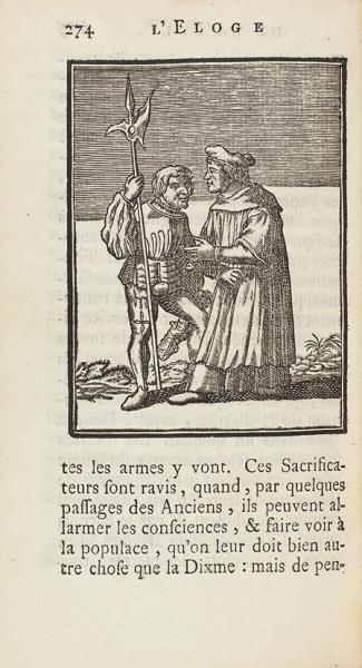 [81гравюра Ганса Гольбейна] Эразм Роттердамский. Похвала глупости/ гравюры Ганса Гольбейна. [L'Eloge delafolie. Нафр.яз.] Амстердам: Francois L'Honore, 1745.
