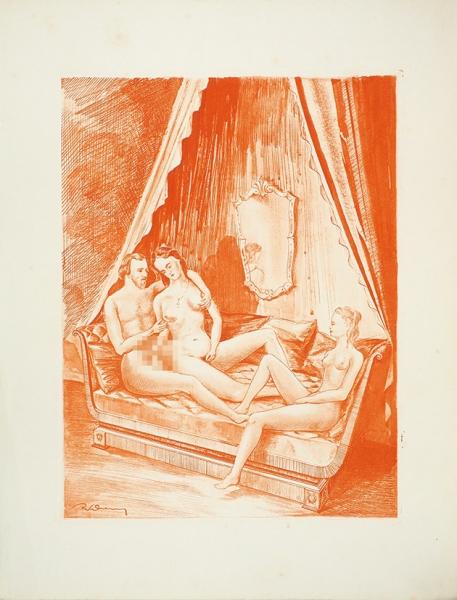 [Глубокая эротика.18+] [Мюссе, А.] Гамиани/ А. deM. [Gamiani. Нафр.яз.]. Paris: Mil Neuf Cent quarante-trois, [1943].