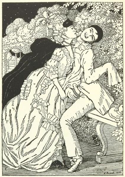 Книга Маркизы [Le Livre de la Marquise]. [Большая Маркиза] / худ. К. Сомов. Venise: Ches Cazzo et Coglioni, 1918.