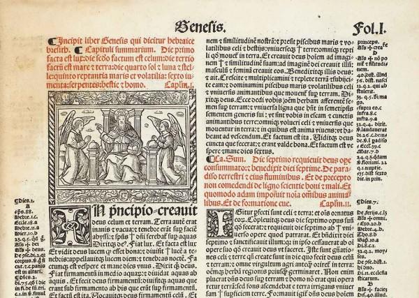 Вульгата. Библия Св. Иеронима. Нюрнберг: Печ. Jacobum Sacon Lugd. для Антона Кобергера, 1513.